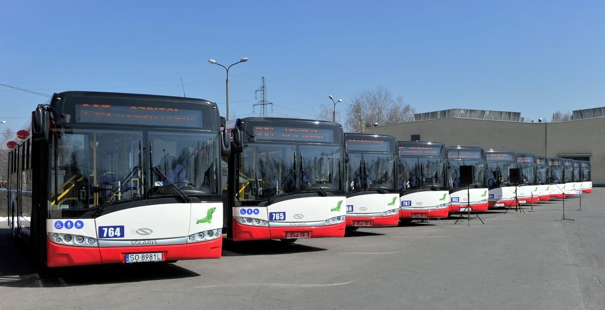Prezentacja 14 nowych autobusów zakupionych przez PKM Sosnowiec