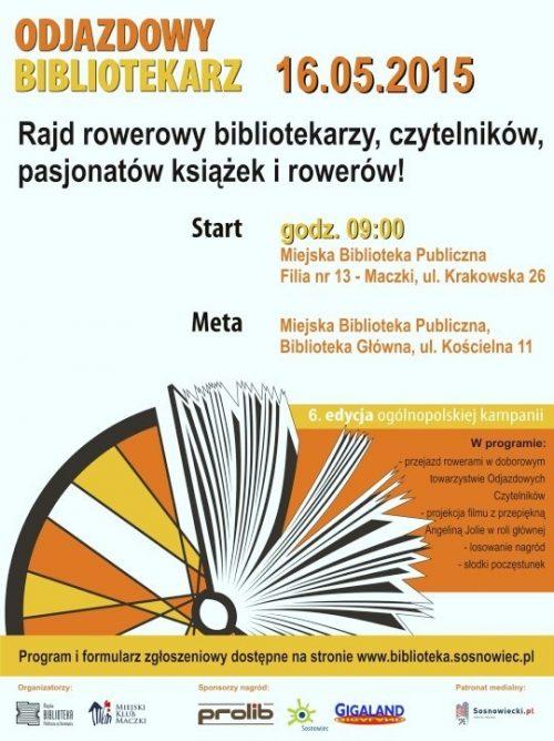 """Promocja czytelnictwa na rowerach, czyli """"Odjazdowy Bibliotekarz 2015"""""""