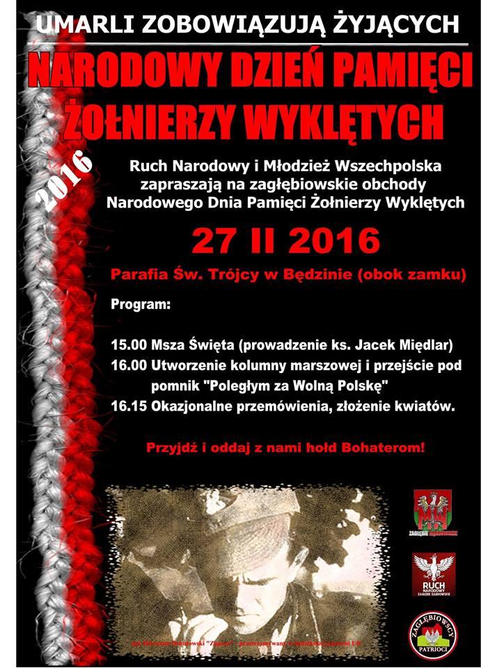 Dzień Pamięci Żołnierzy Wyklętych w Będzinie