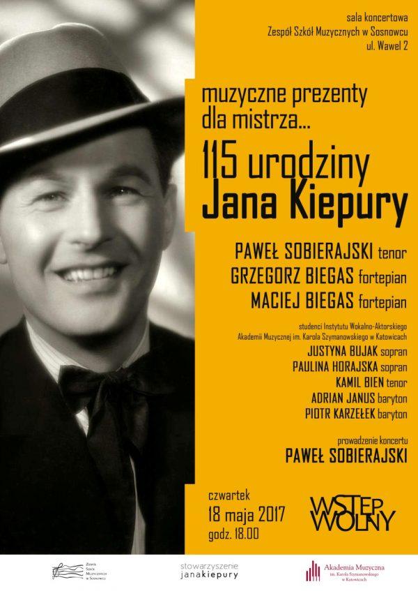 Bezpłatny koncert na 115. urodziny Jana Kiepury