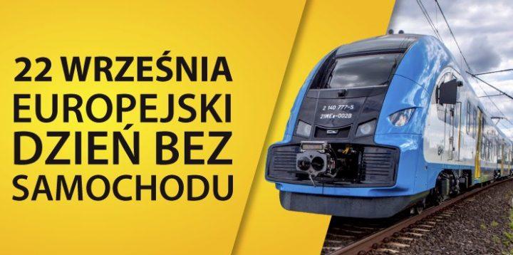 Dzień bez Samochodu: Bezpłatne przejazdy w Kolejach Śląskich