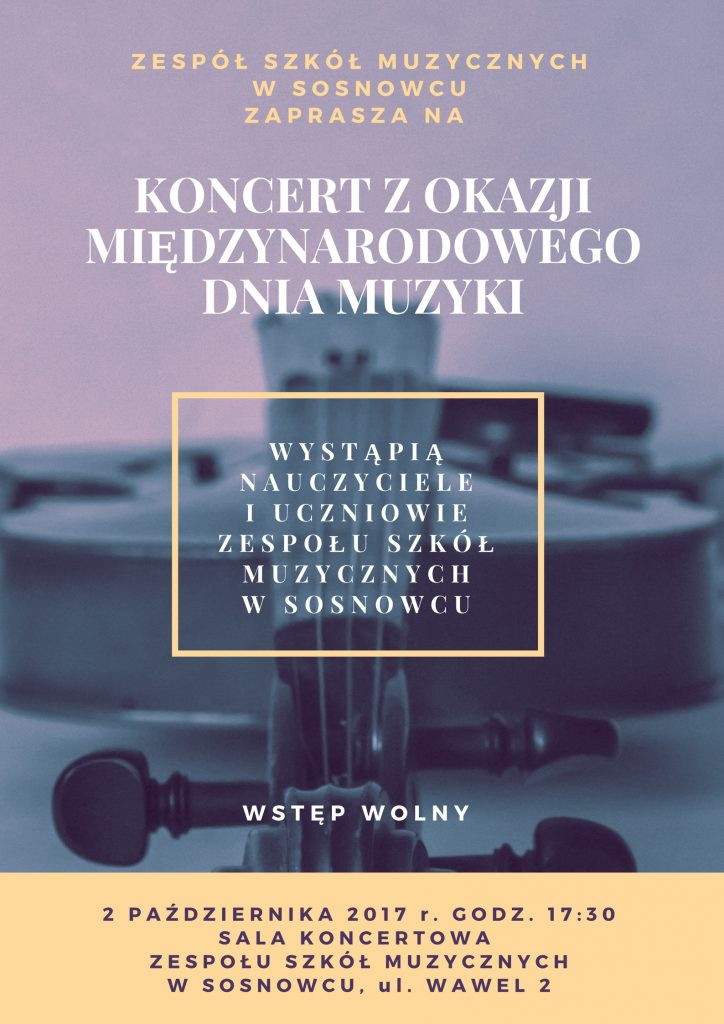 Bezpłatny koncert z okazji Międzynarodowych Dni Muzyki
