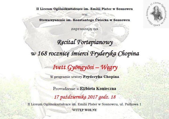 Recital Fortepianowy w 168 rocznicę śmierci Fryderyka Chopina