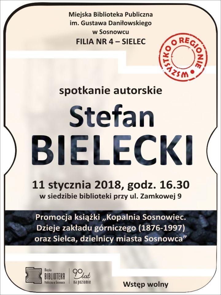 Spotkanie autorskie ze Stefanem Bieleckim, autorem książki o Kopalni Sosnowiec
