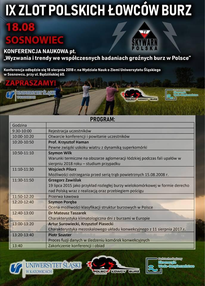 """""""Wyzwania i trendy we współczesnych badaniach groźnych burz w Polsce"""" – konferencja naukowa w Sosnowcu"""