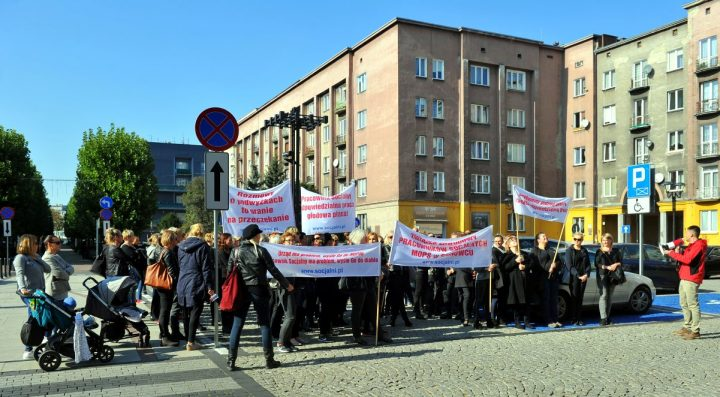 Kolejny protest przed Urzędem Miejskim w Sosnowcu