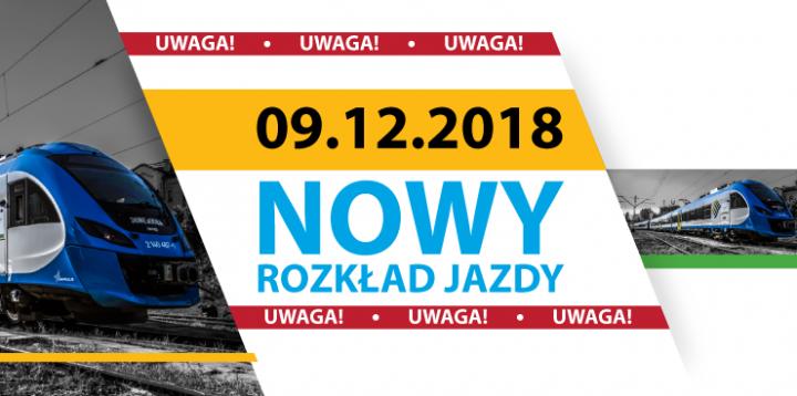 9 grudnia – nowy rozkład jazdy Kolei Śląskich