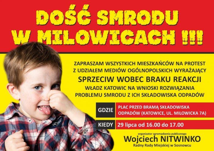 Protest mieszkańców – Dość smrodu w Milowicach