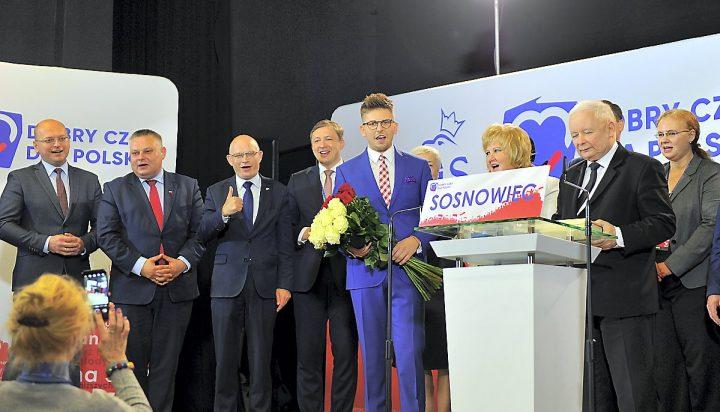 Prezes Kaczyński i marszałek Karczewski wspierają kandydatów PiS w Zagłębiu