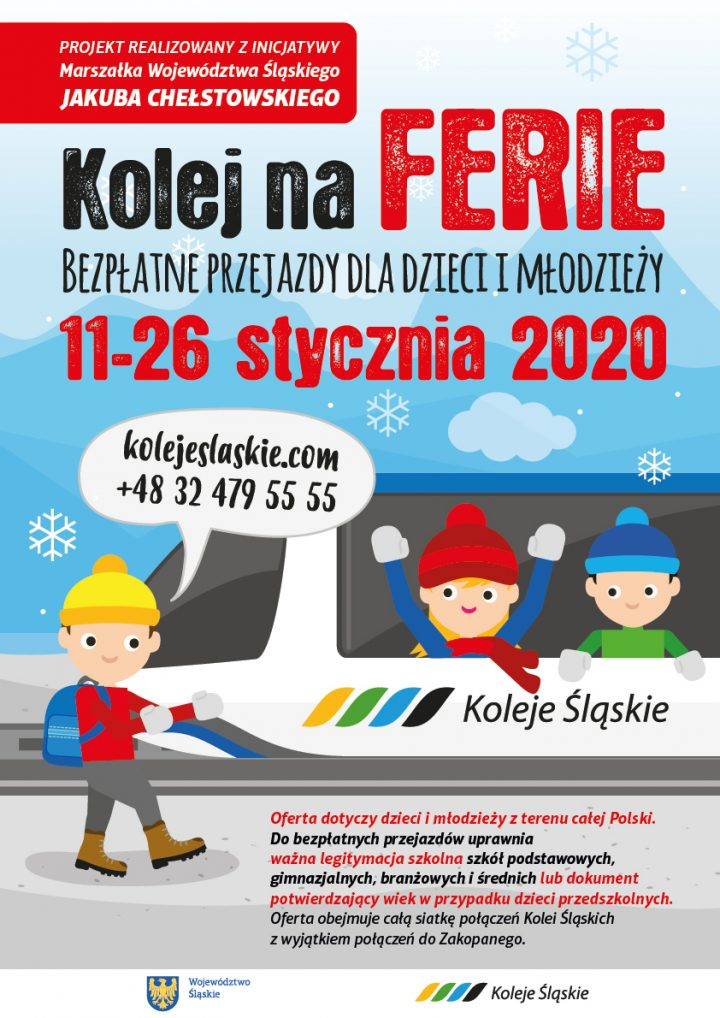 Kolej na ferie po raz drugi – bezpłatne przejazdy dla dzieci i młodzieży